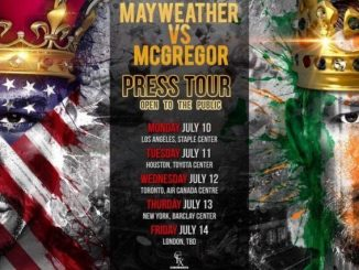 McGregor Mayweather Press Tour